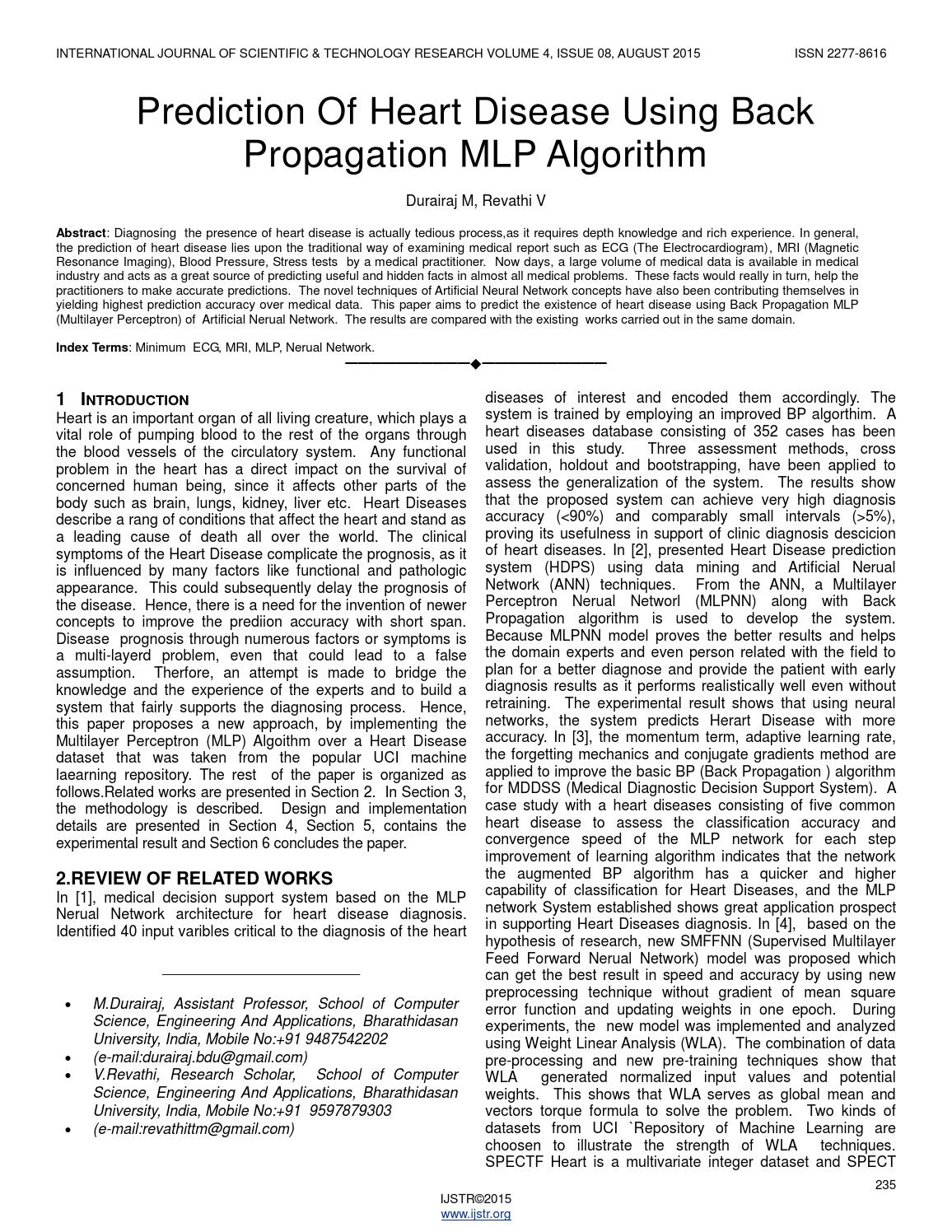 research papers on back propagation algorithm A c++ class implementing a back-propagation algorithm neural net,  back-propagation neural net  'cause there are some books and papers using different.