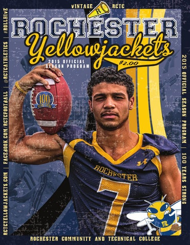 rctc 2015 football season program by rochester community and