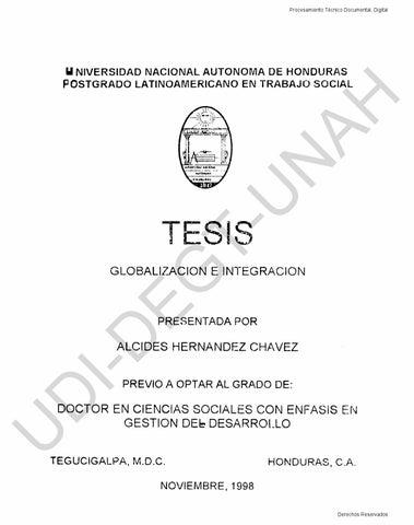 Globalización en integración by Doctorado CCSS GD - issuu