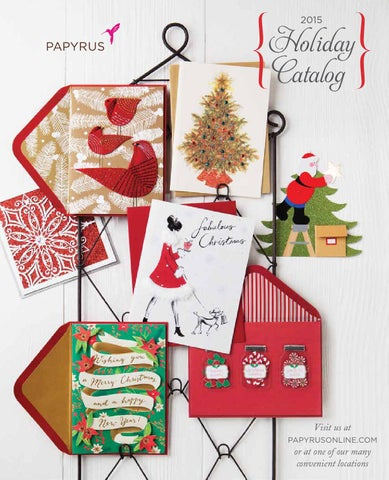 page 1 2015 holiday catalog - Papyrus Holiday Cards
