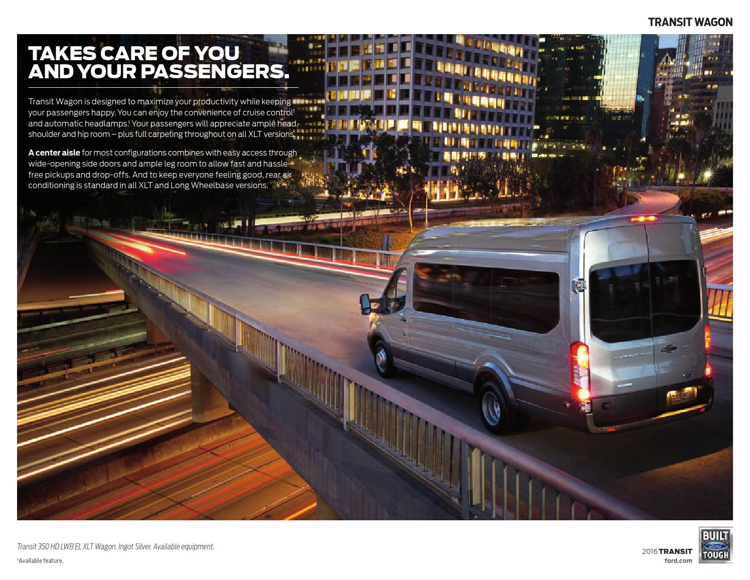 2016 Ford Transit and Chassis Cab Factory Brochure - Bob Smith Ford
