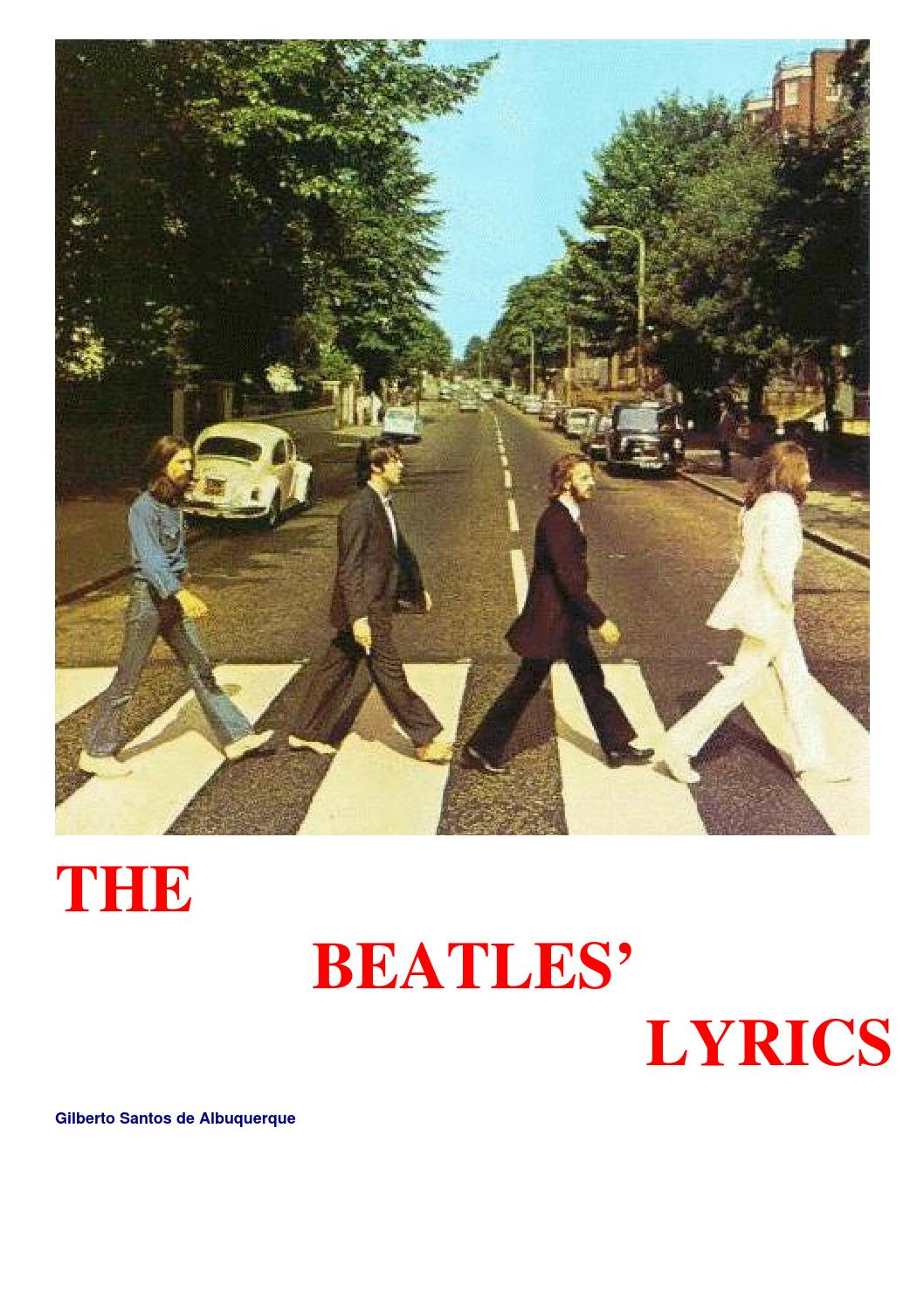 The beatles lyrics by Richard Joser - issuu
