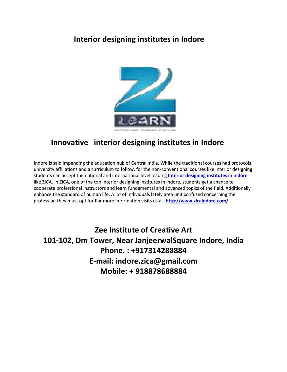 Affiliated Interior Designing Institutes In Indore By Deepak Sigh