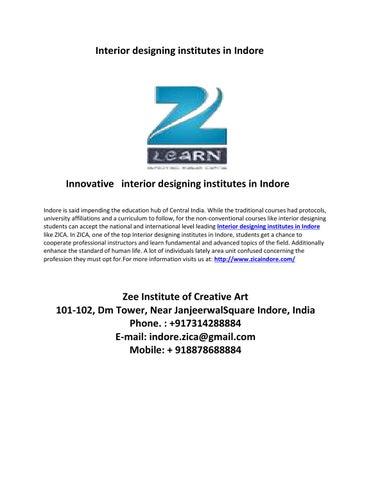 Page 1 Interior Designing Institutes In Indore
