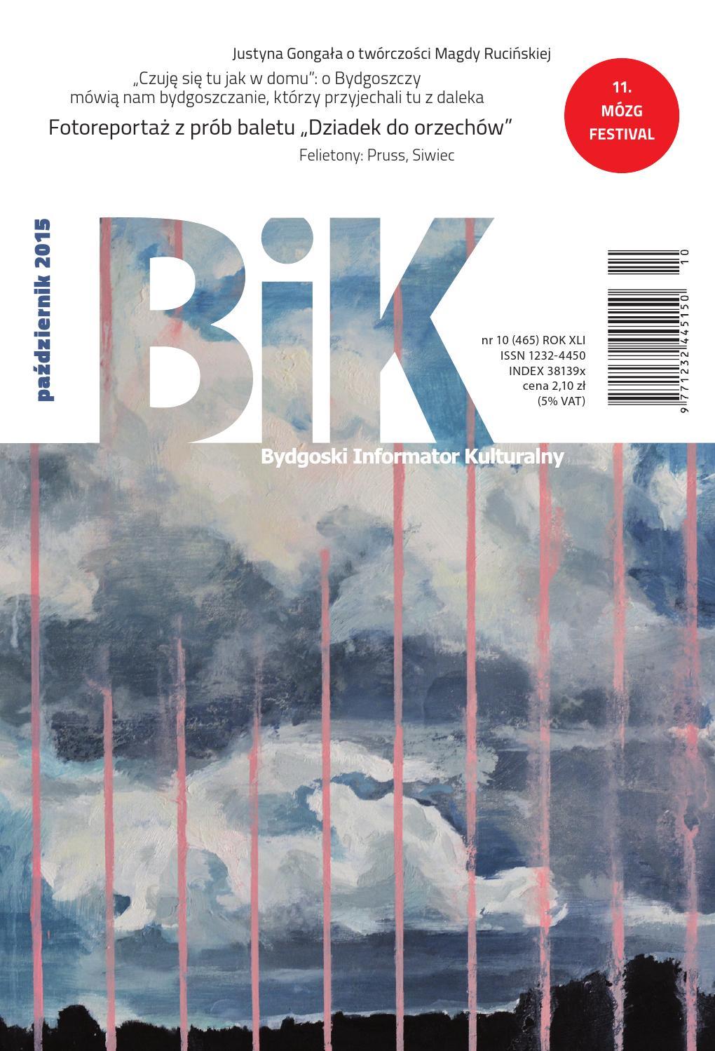 0d87af72b4f82 BIK 10 2015 by Miejskie Centrum Kultury w Bydgoszczy - issuu