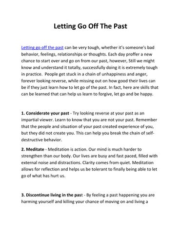 Letting Go Off The Past By Lama Surya Das Issuu