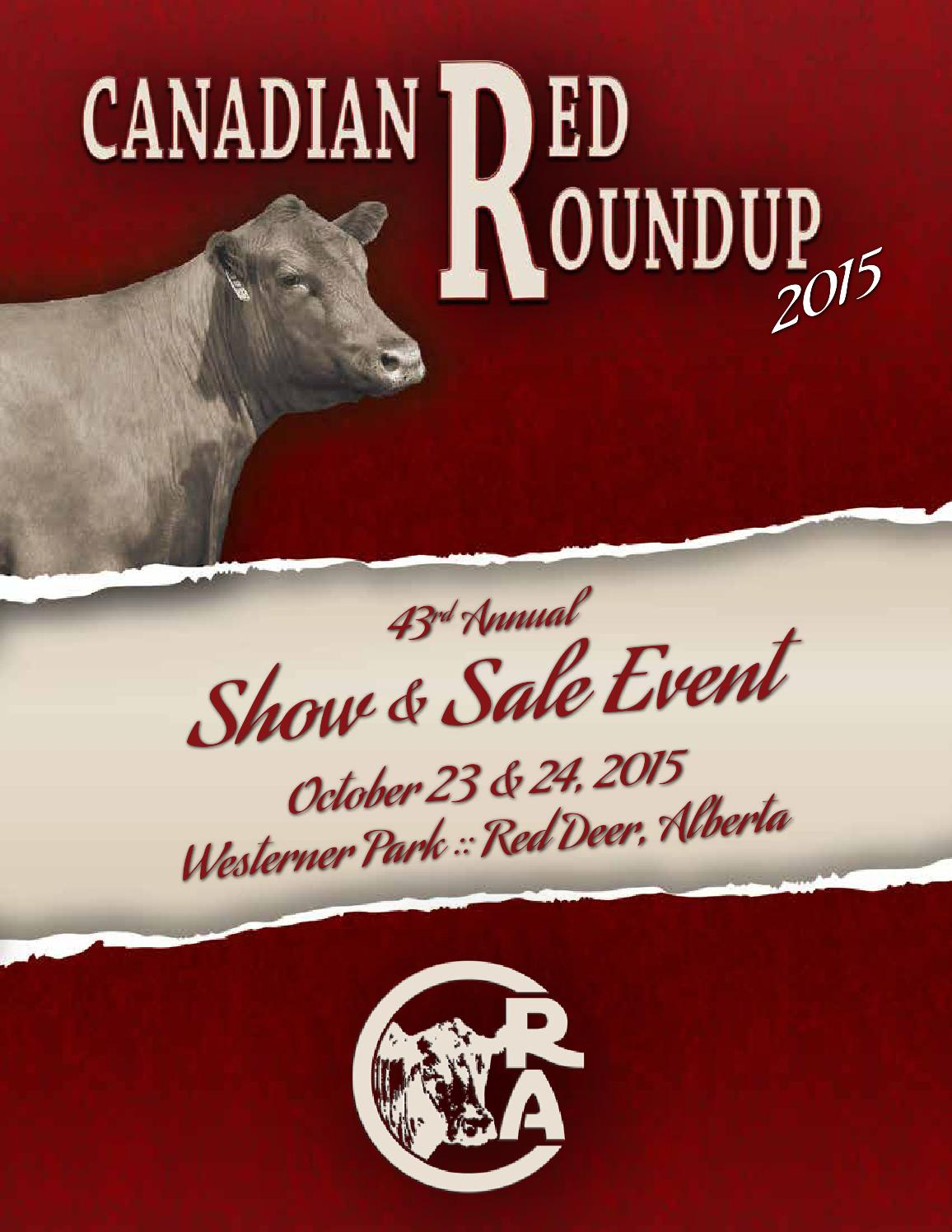 43rd Annual Red Roundup Red Angus Show Sale Event by Bouchard