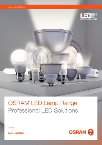 Osram Led Trade Lamps Brochure By Thirst Design Issuu