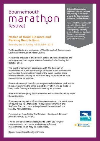 bournemouth marathon festival 2015 road closures by gsi events ltd issuu. Black Bedroom Furniture Sets. Home Design Ideas