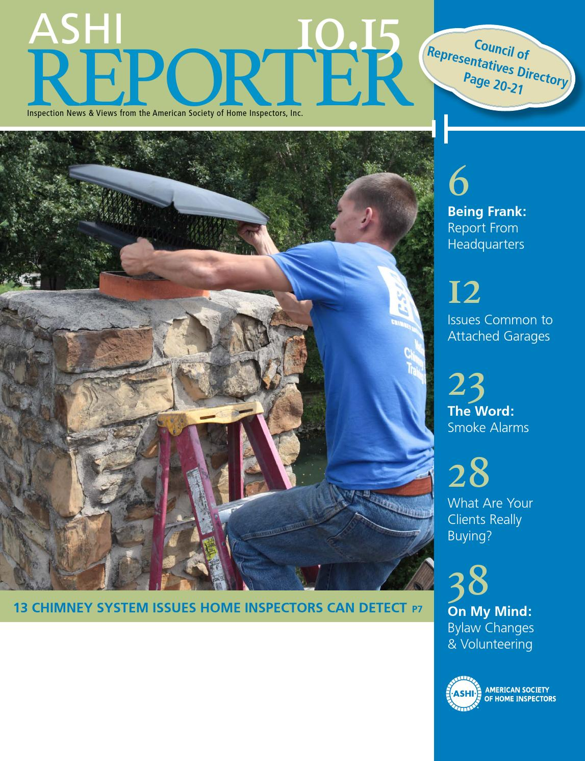 October 2015 Reporter By Ashi Issuu Electrical Arc Fault Safety Advice For Homeowners Home Inspectors