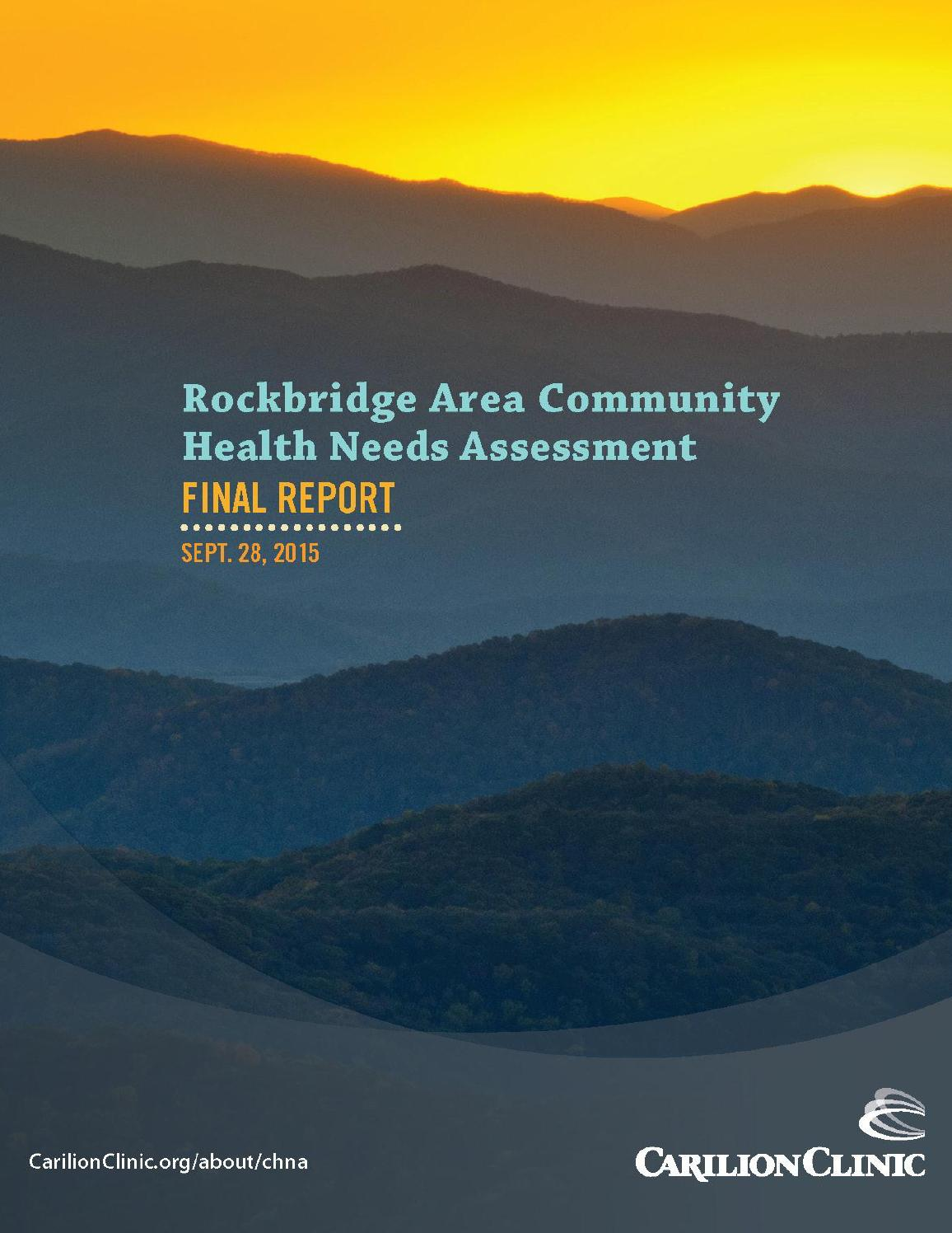 Rockbridge Area Community Health Needs Assessment By Carilion Clinic   Issuu