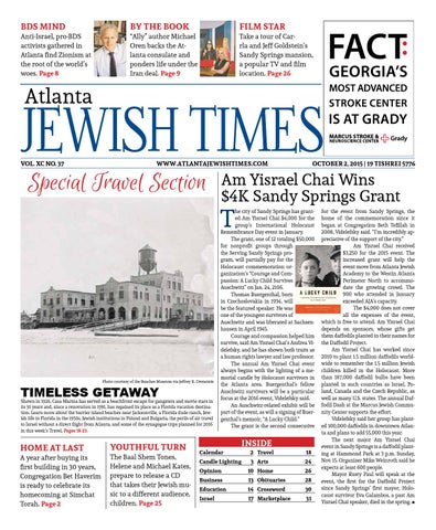 Atlanta Jewish Times No 37 October 2 2015 By Atlanta Jewish