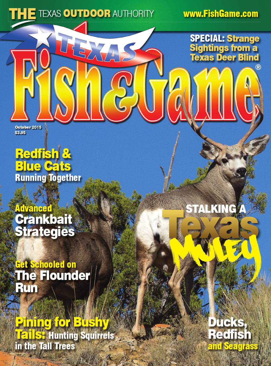 Texas fish game october 2015 by texas fishing and for Texas game and fish