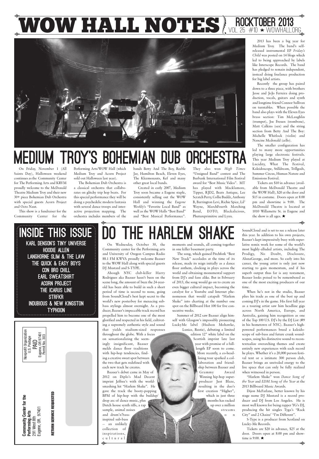 WOW Hall Notes - Rocktober 2013 by WOW Hall - issuu