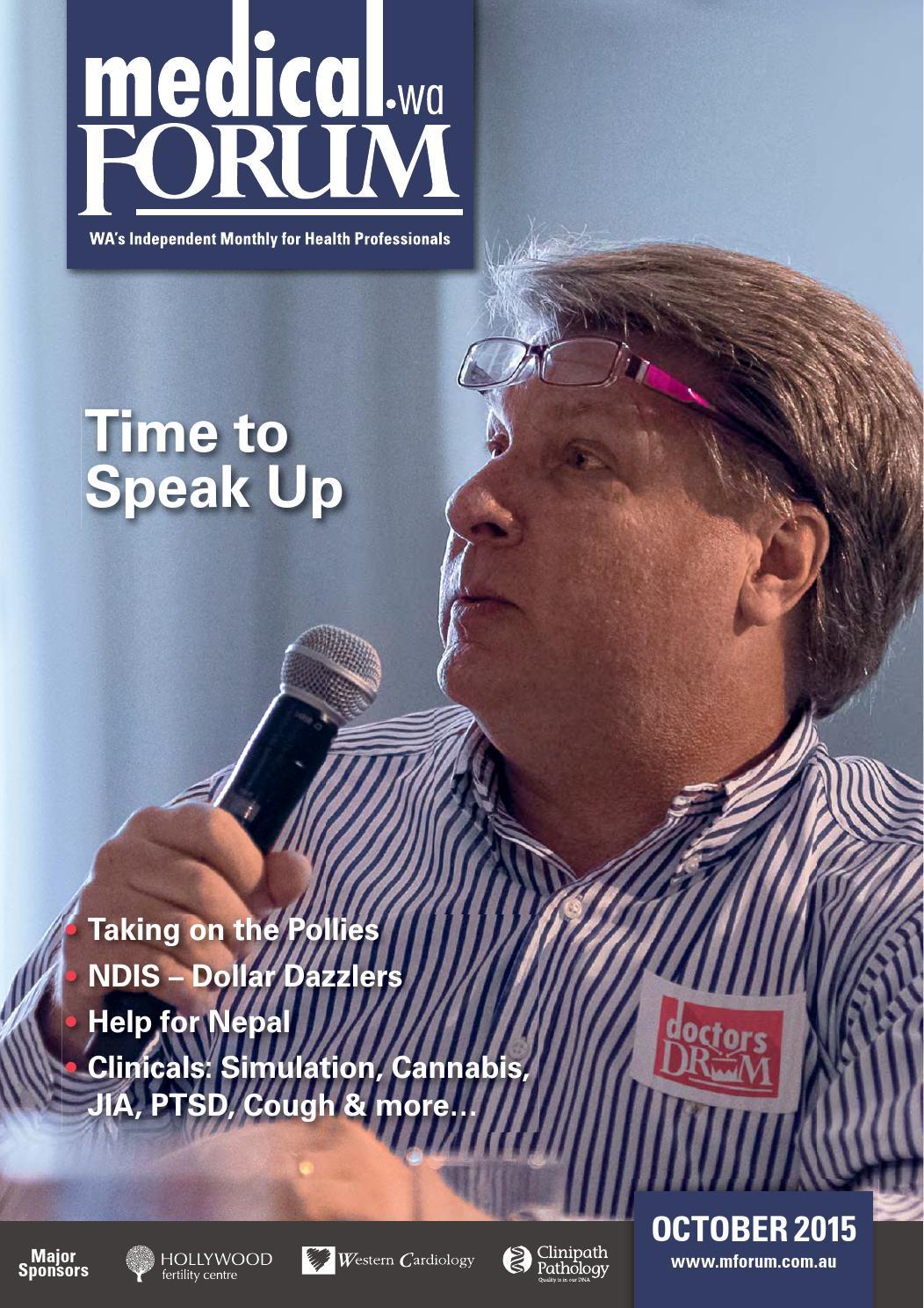 Medical Forum 10/15 Public Edition by Medical Forum WA - issuu