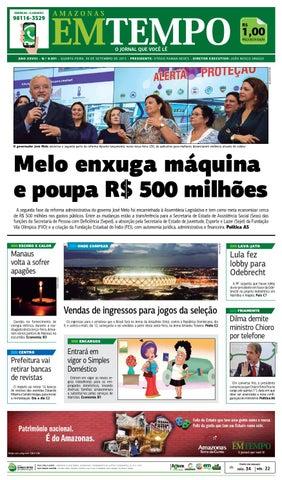 6f22705deae EM TEMPO - 30 de setembro de 2015 by Amazonas Em Tempo - issuu