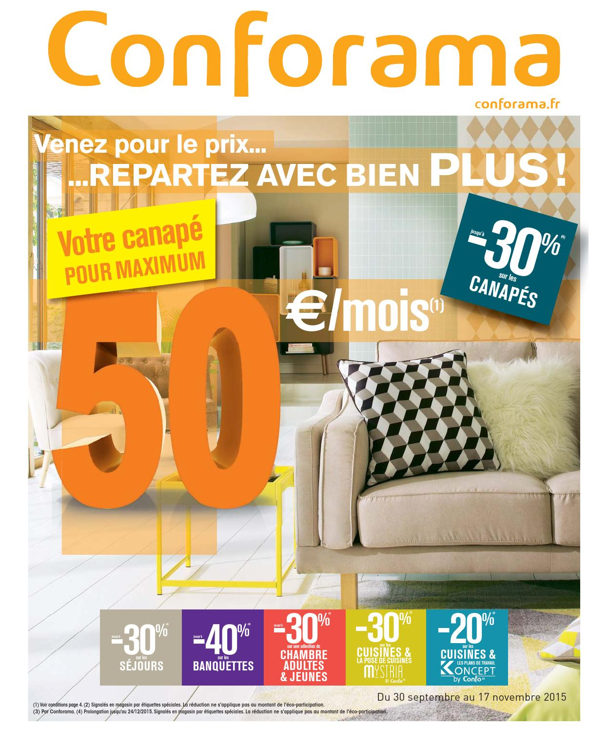 Conforama catalogue 30septembre 17novembre2015 by ...