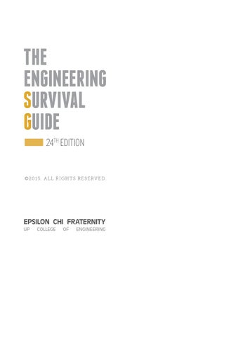 The Engineering Survival Guide 2015 by UP Epsilon Chi