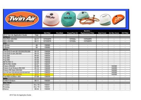 AIR FILTER FOR SUZUKI GZ 125 K1//K2 01-04 360
