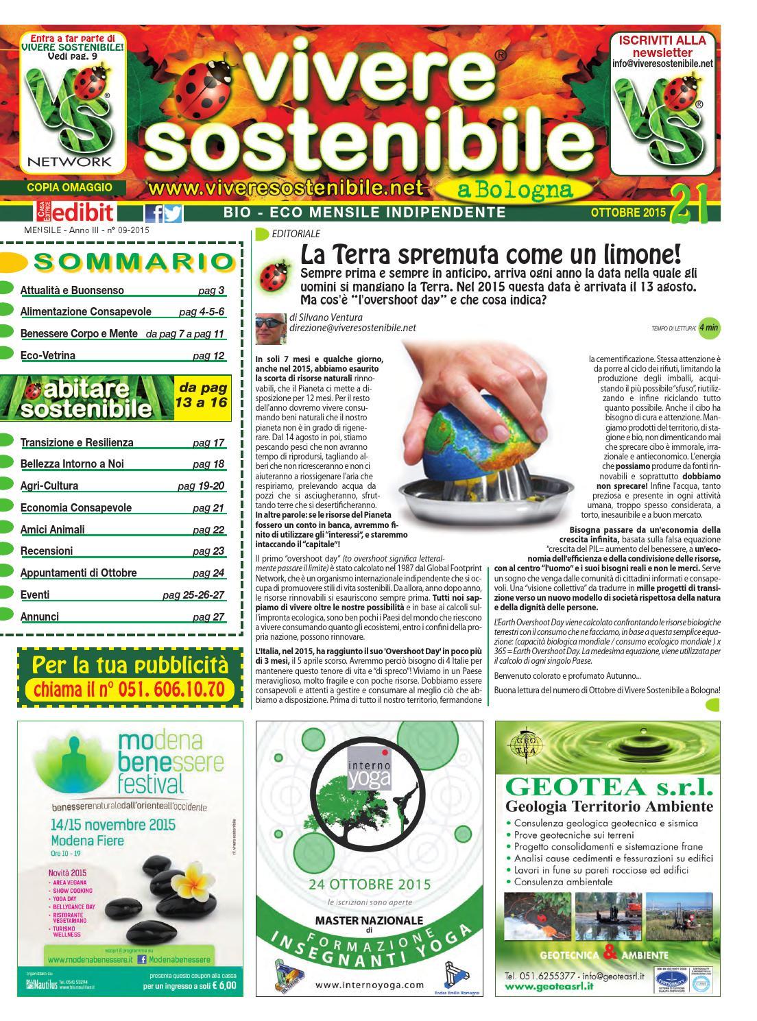 Vivere Sostenibile N 21 Ottobre 2015 By Edibit Vivere Sostenibile Issuu