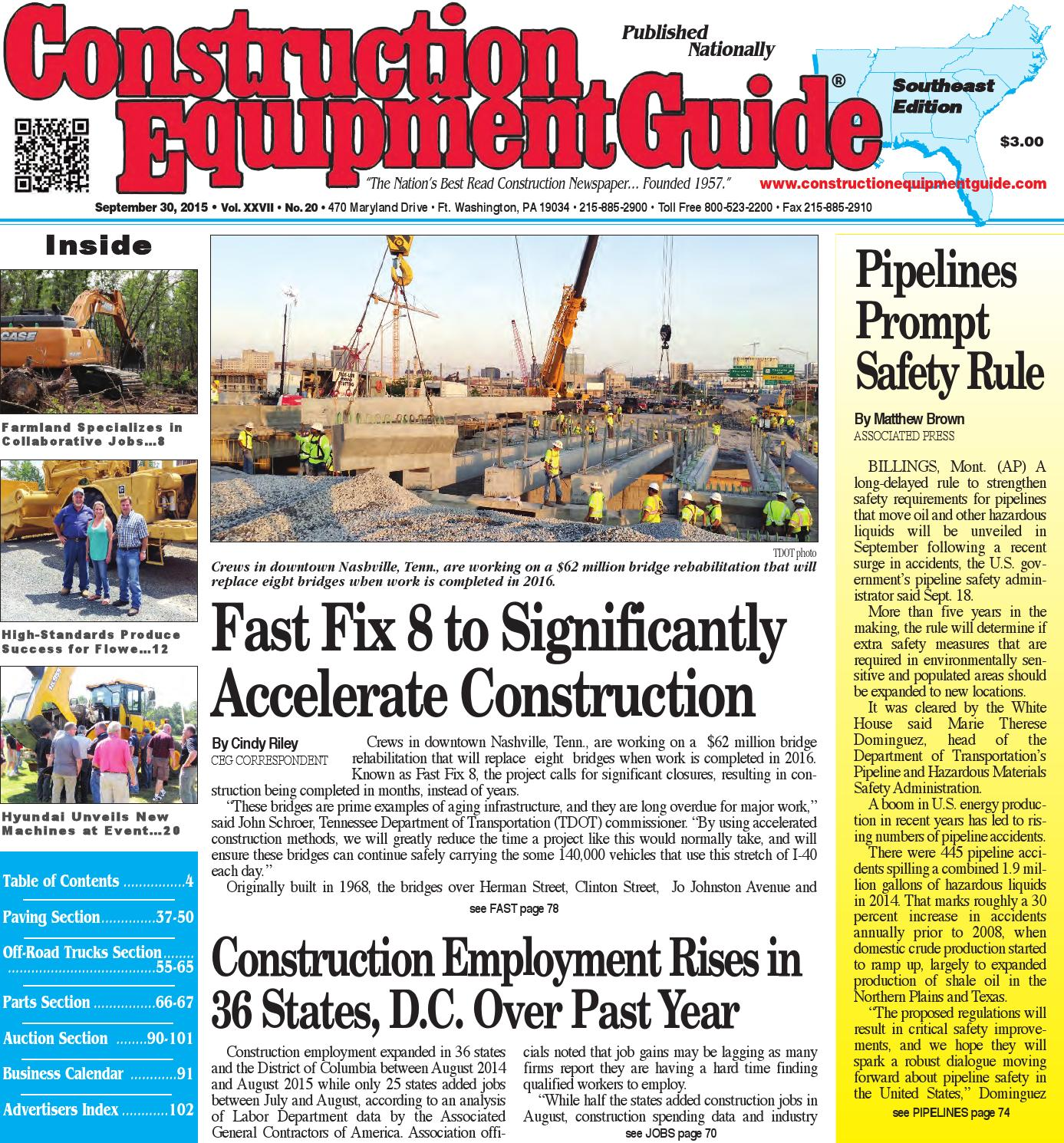 Southeast 20 2015 by Construction Equipment Guide - issuu