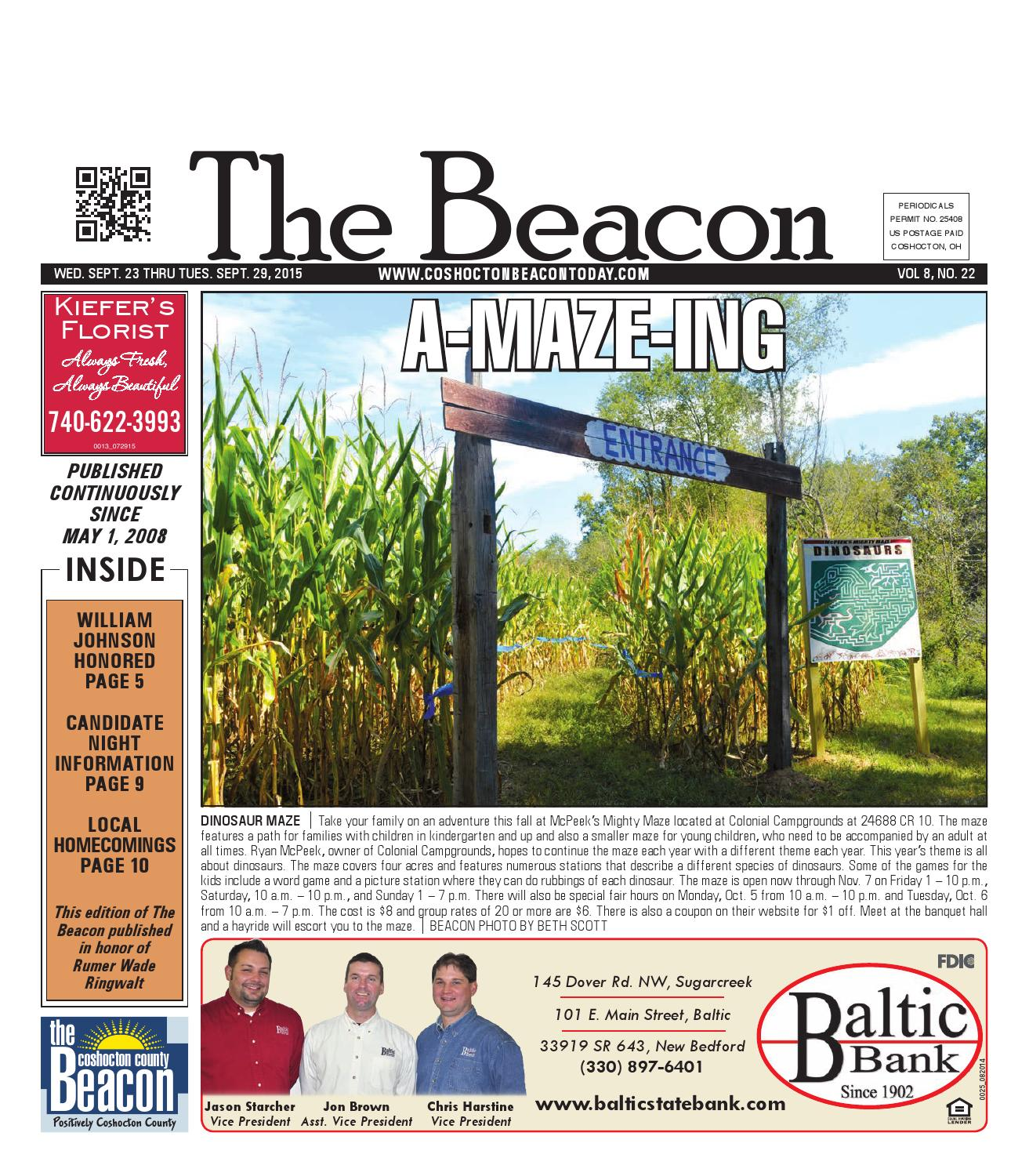 September 23 2015 Coshocton County Beacon By The