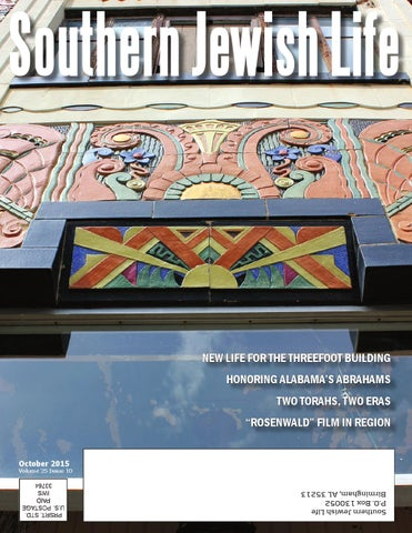 Sjl Deep South October 2015 By Southern Jewish Life Issuu