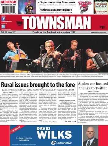 Cranbrook Daily Townsman, September 30, 2015