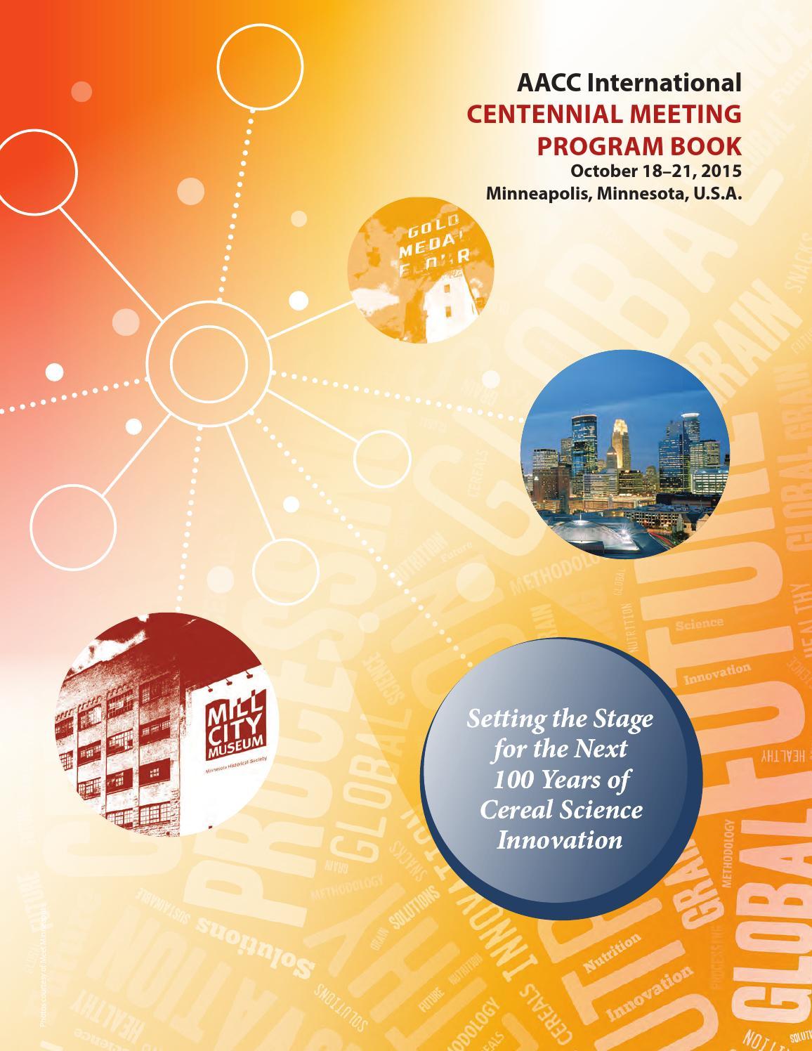 AACCI Centennial Program Book by Scientific Societies - issuu