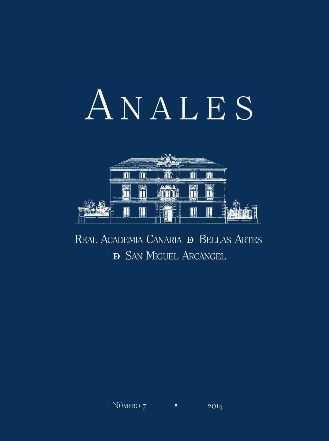 2014 - Revista ANALES de la RACBA núm 7 by Real Academia Canaria de ...