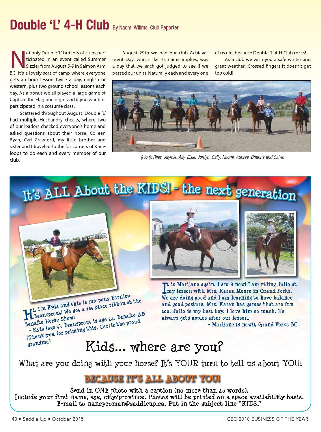 Saddle Up October, 2018 by Saddle Up magazine - Issuu