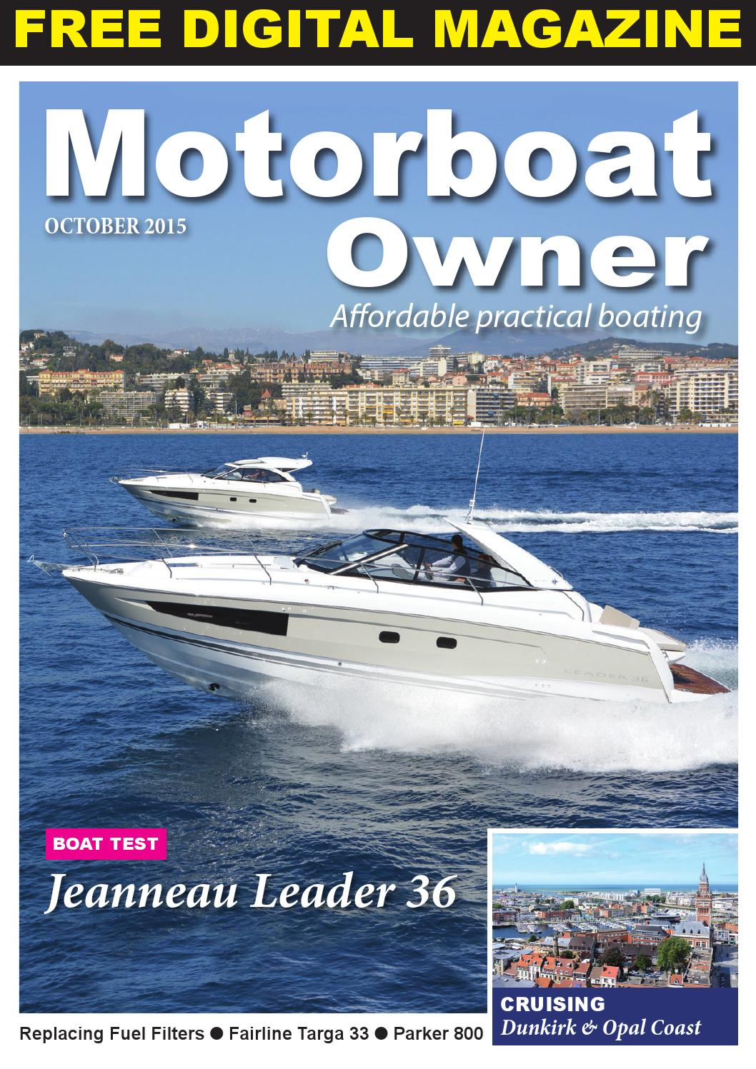 Motorboat Owner October 15 By Digital Marine Media Ltd Issuu Parker Fuel Filter