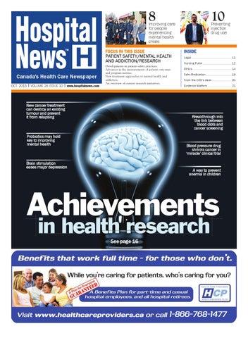Hospital News 2015 October Edition by Hospital News - issuu