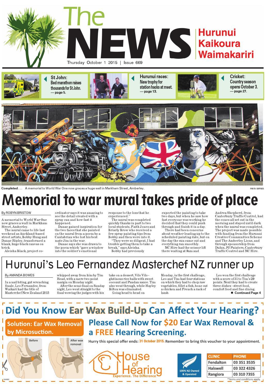 The News North Canterbury 01 10 15