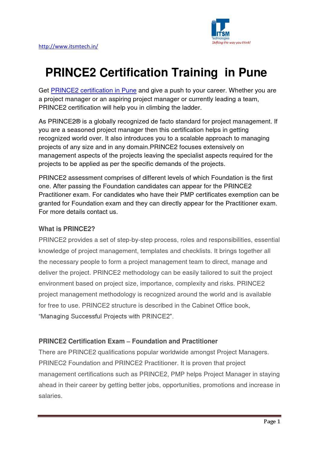 Prince2 certification training in pune by brainmineae1 issuu xflitez Images