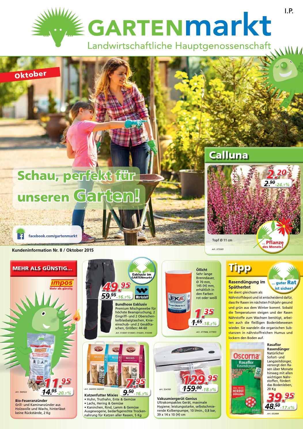 GARTENmarkt Faltblatt Oktober 2015 by GARTENmarkt - issuu