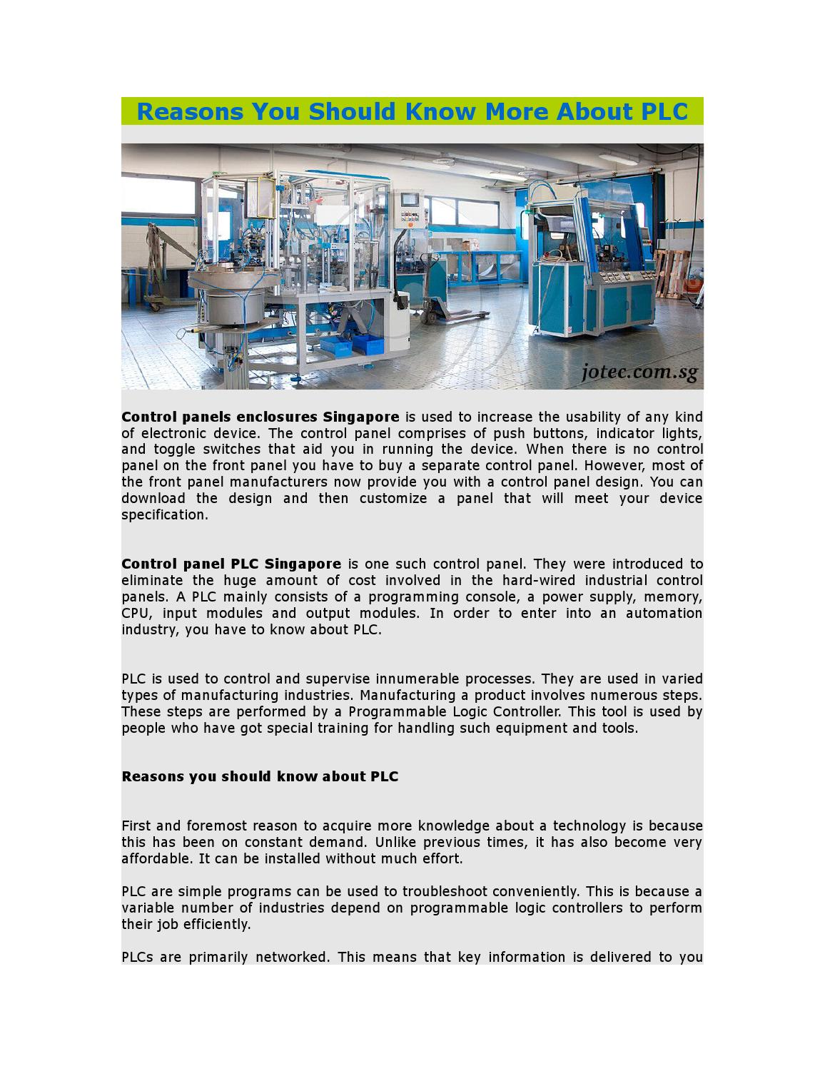 Reasons You Should Know More About PLC by jotec408 - issuu