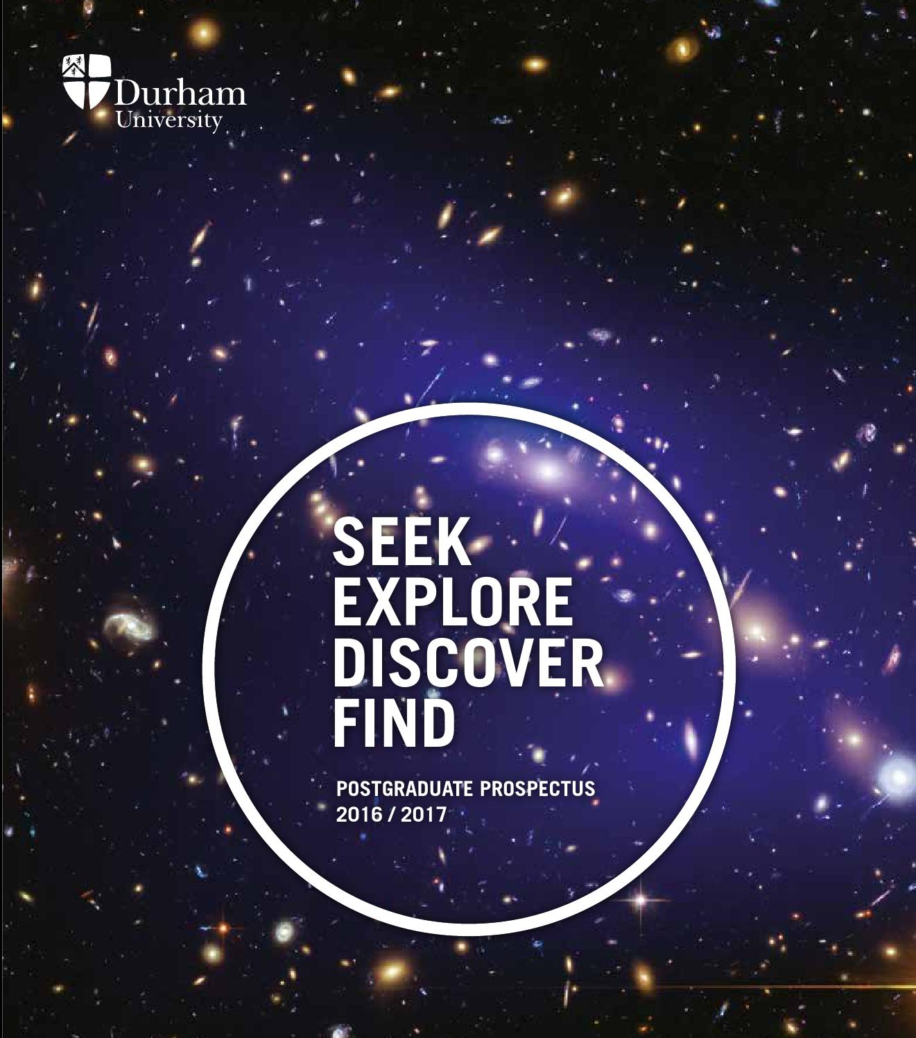 Postgraduate prospectus 2016 by durham university issuu - Durham university international office ...