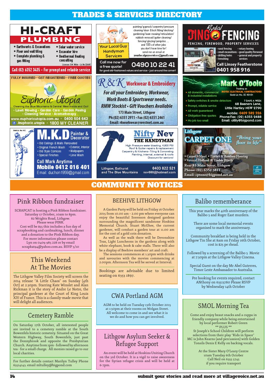 Lithgow Local Community Newspaper Issue 81 By Village