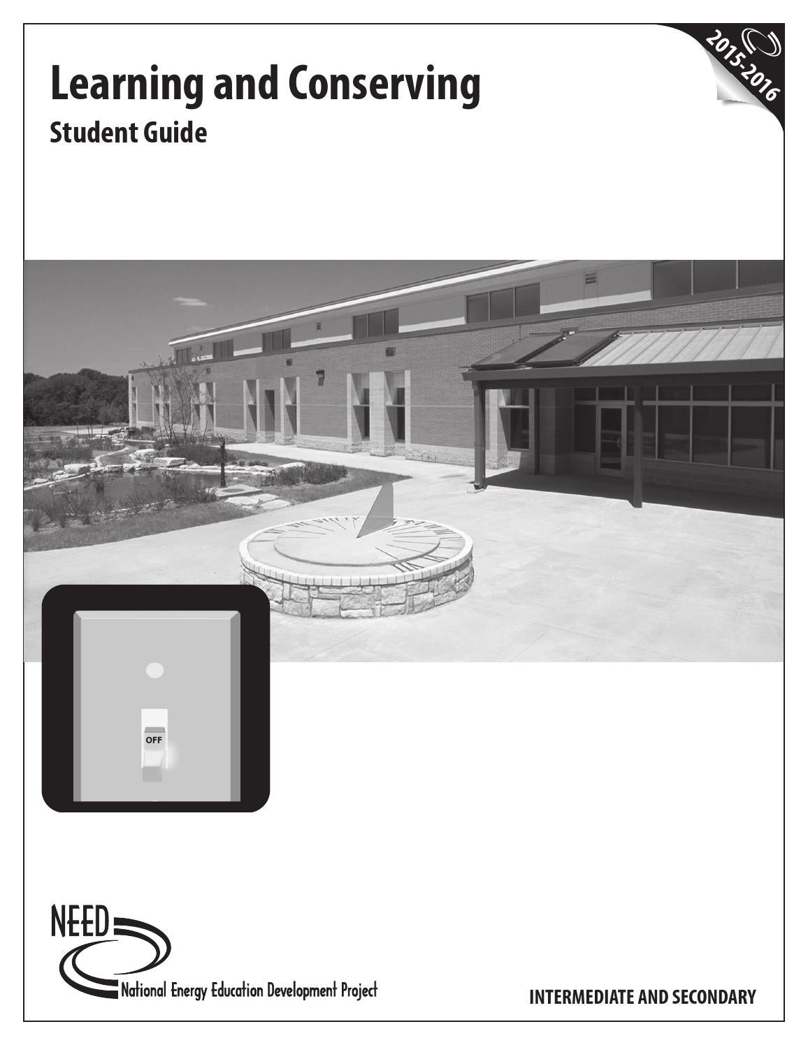 Learning And Conserving Student Guide By Need Project Issuu Nicor Exit Sign Wiring Diagram