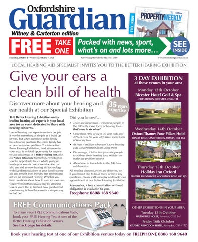1 october 2015 oxfordshire guardian witney by taylor newspapers issuu page 1 fandeluxe Image collections
