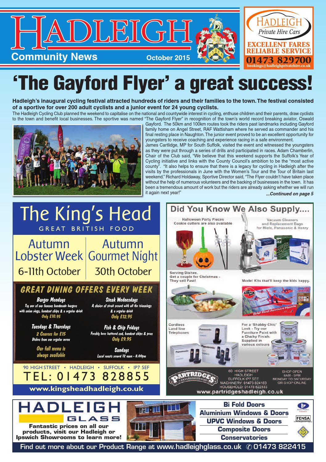 Hadleigh Community News, October 2015 by Keith Avis Printers - issuu