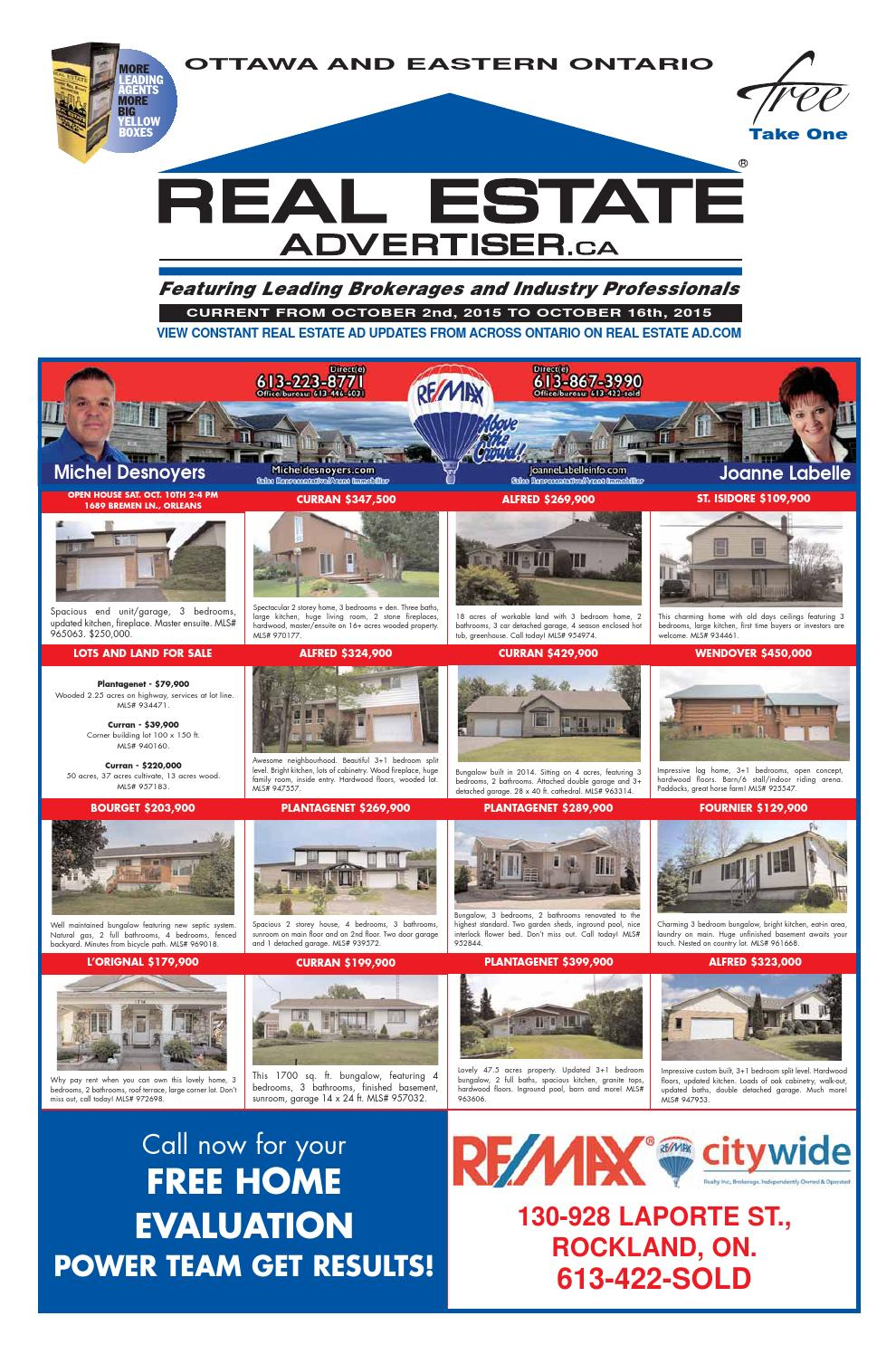 Real Estate Advertiser Ottawa And Area October 2 2015 By High Power For A Detached Garage Shed Greenhouse Or Workshop Part 1 Times Publications Limited Issuu