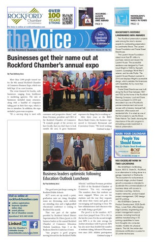 October Voice 2015 By Rockford Chamber Of Commerce Issuu