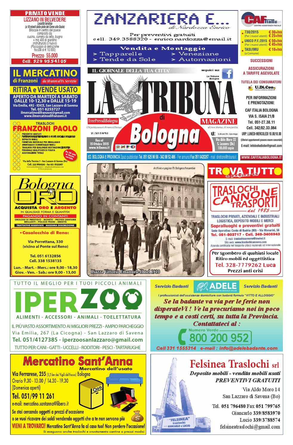 Tribuna n 63 ottobre 2015 by la tribuna srls issuu - Comune bagno a ripoli tasi ...