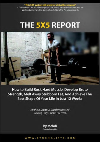 20901e4f536 Stronglifts 5x5 report by sebby - issuu