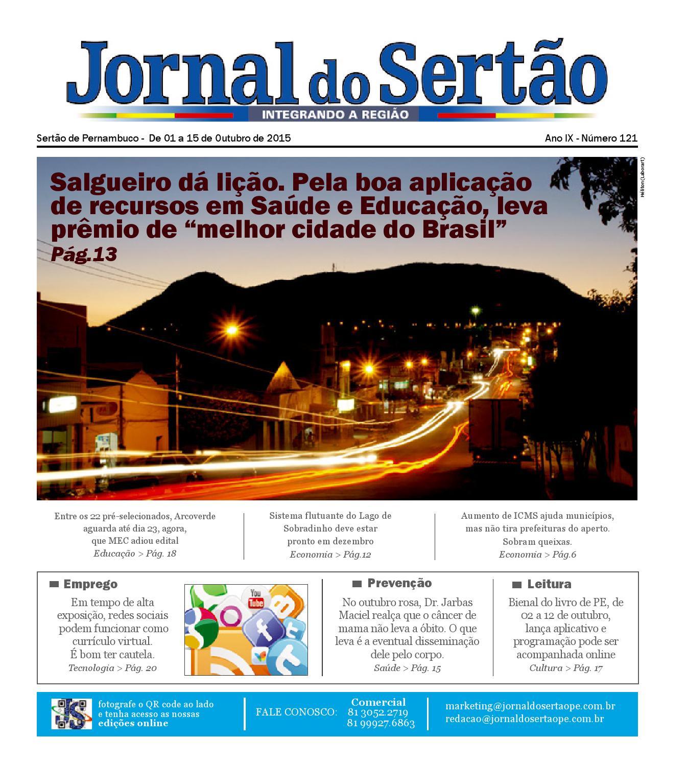 JORNAL DO SERTÃO ED 121 QUINZENA OUTUBRO 2015 by JORNAL DO SERTÃO - issuu ce5a475871