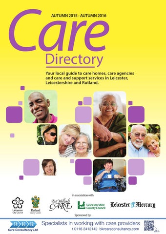 Leicester Leicestershire And Rutland Care Directory 2015