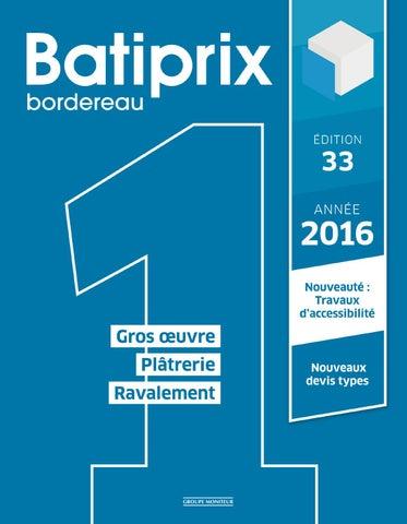 extrait des 8 volumes batiprix 2016 by infopro digital issuu. Black Bedroom Furniture Sets. Home Design Ideas