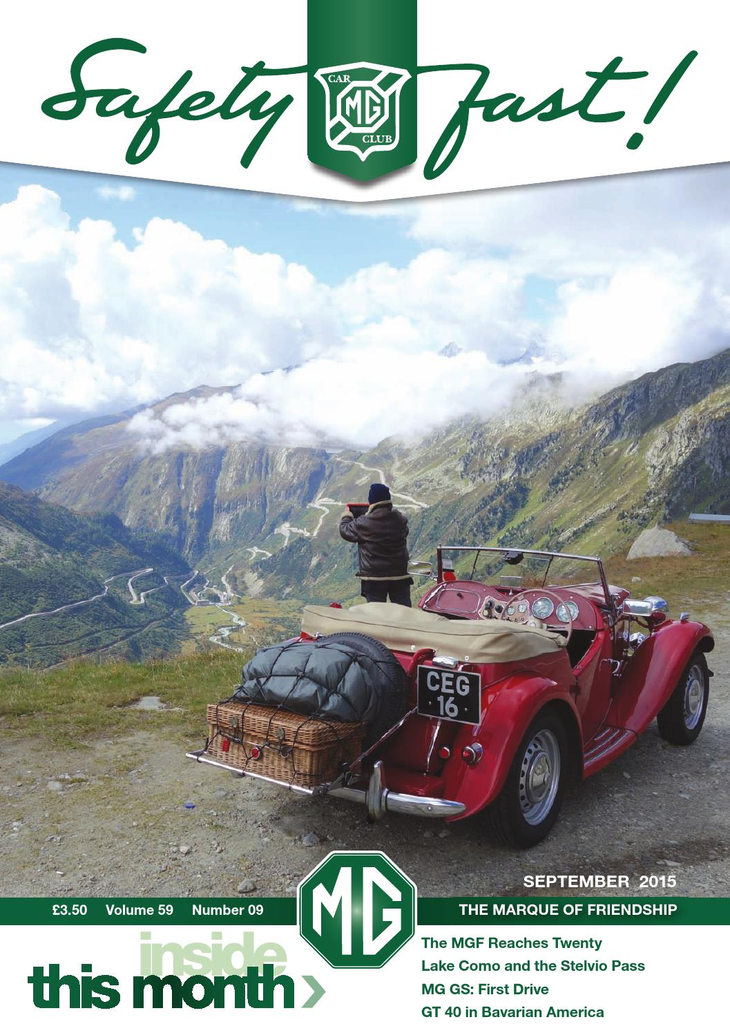 Safety Fast September 2015 By Mg Car Club Issuu High Lownew Switch Take A Diff Plug For The Wiper Six Wires